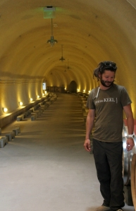 Dieter Cronje in the new Presqu'ile barrel cave