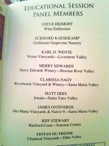 Chardonnay Symposium 2013 panel lineup